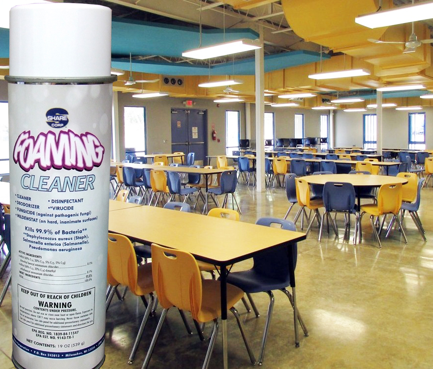 Foaming Cleaner Share Corp - Restaurant table cleaner